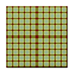 Geometric Tartan Pattern Square Face Towel