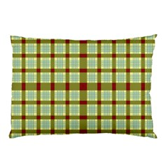 Geometric Tartan Pattern Square Pillow Case