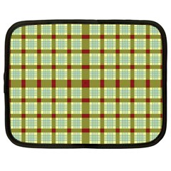 Geometric Tartan Pattern Square Netbook Case (XL)
