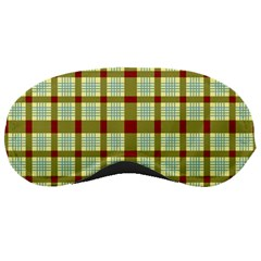 Geometric Tartan Pattern Square Sleeping Masks