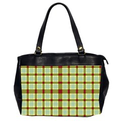 Geometric Tartan Pattern Square Office Handbags (2 Sides)