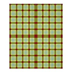 Geometric Tartan Pattern Square Shower Curtain 60  x 72  (Medium)