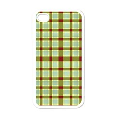 Geometric Tartan Pattern Square Apple Iphone 4 Case (white)