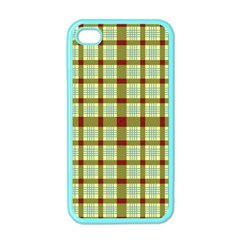 Geometric Tartan Pattern Square Apple Iphone 4 Case (color)
