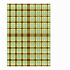 Geometric Tartan Pattern Square Small Garden Flag (Two Sides)