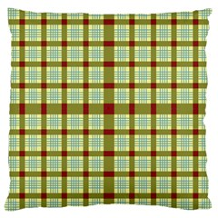 Geometric Tartan Pattern Square Large Cushion Case (two Sides)