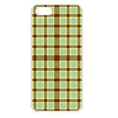 Geometric Tartan Pattern Square Apple Iphone 5 Seamless Case (white)
