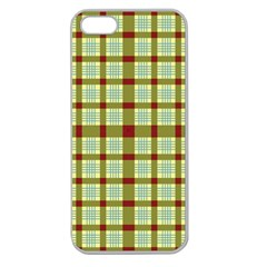Geometric Tartan Pattern Square Apple Seamless Iphone 5 Case (clear)
