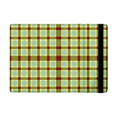Geometric Tartan Pattern Square Apple Ipad Mini Flip Case