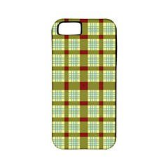 Geometric Tartan Pattern Square Apple Iphone 5 Classic Hardshell Case (pc+silicone)