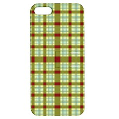 Geometric Tartan Pattern Square Apple Iphone 5 Hardshell Case With Stand