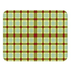 Geometric Tartan Pattern Square Double Sided Flano Blanket (large)