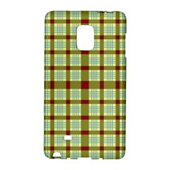 Geometric Tartan Pattern Square Galaxy Note Edge