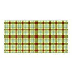 Geometric Tartan Pattern Square Satin Wrap