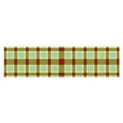Geometric Tartan Pattern Square Satin Scarf (Oblong)