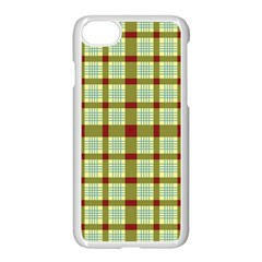 Geometric Tartan Pattern Square Apple Iphone 7 Seamless Case (white)