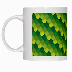 Dragon Scale Scales Pattern White Mugs