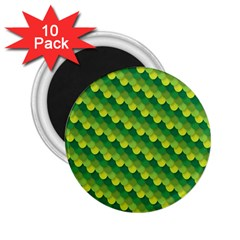 Dragon Scale Scales Pattern 2 25  Magnets (10 Pack)