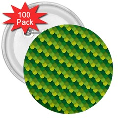 Dragon Scale Scales Pattern 3  Buttons (100 Pack)