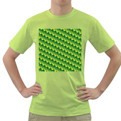 Dragon Scale Scales Pattern Green T Shirt