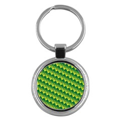 Dragon Scale Scales Pattern Key Chains (Round)
