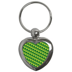 Dragon Scale Scales Pattern Key Chains (heart)