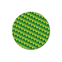 Dragon Scale Scales Pattern Magnet 3  (round)