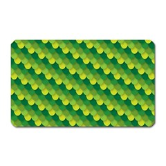 Dragon Scale Scales Pattern Magnet (rectangular)