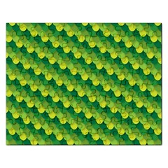 Dragon Scale Scales Pattern Rectangular Jigsaw Puzzl