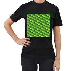 Dragon Scale Scales Pattern Women s T Shirt (black) (two Sided)