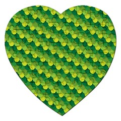 Dragon Scale Scales Pattern Jigsaw Puzzle (heart)
