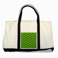 Dragon Scale Scales Pattern Two Tone Tote Bag