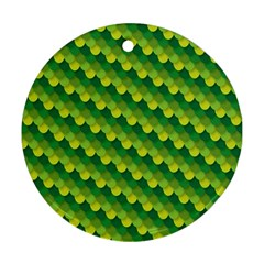 Dragon Scale Scales Pattern Round Ornament (two Sides)