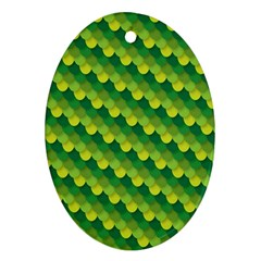 Dragon Scale Scales Pattern Oval Ornament (two Sides)