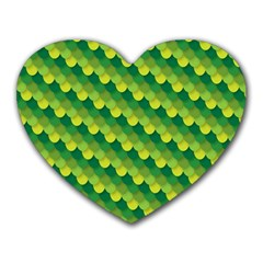 Dragon Scale Scales Pattern Heart Mousepads