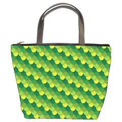 Dragon Scale Scales Pattern Bucket Bags