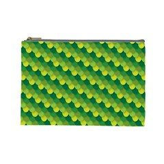 Dragon Scale Scales Pattern Cosmetic Bag (large)