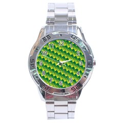 Dragon Scale Scales Pattern Stainless Steel Analogue Watch
