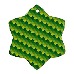 Dragon Scale Scales Pattern Ornament (snowflake)