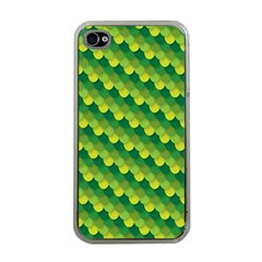 Dragon Scale Scales Pattern Apple iPhone 4 Case (Clear)