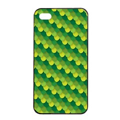 Dragon Scale Scales Pattern Apple Iphone 4/4s Seamless Case (black)
