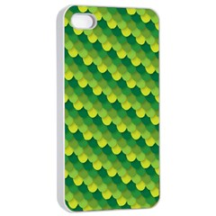 Dragon Scale Scales Pattern Apple Iphone 4/4s Seamless Case (white)
