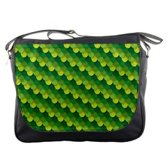 Dragon Scale Scales Pattern Messenger Bags