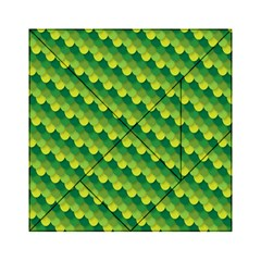 Dragon Scale Scales Pattern Acrylic Tangram Puzzle (6  X 6 )