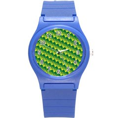 Dragon Scale Scales Pattern Round Plastic Sport Watch (s)