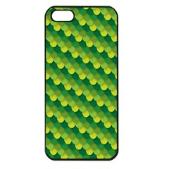 Dragon Scale Scales Pattern Apple Iphone 5 Seamless Case (black)