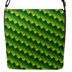 Dragon Scale Scales Pattern Flap Messenger Bag (s)