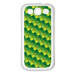 Dragon Scale Scales Pattern Samsung Galaxy S3 Back Case (white)