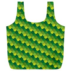 Dragon Scale Scales Pattern Full Print Recycle Bags (L)