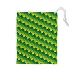 Dragon Scale Scales Pattern Drawstring Pouches (Large)